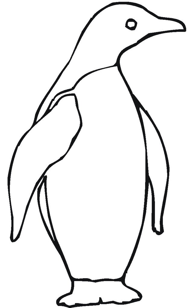 simple penguin template download