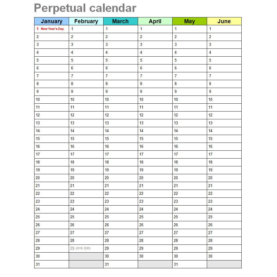 Pin Depo Perpetual Calendar 2015 on Pinterest