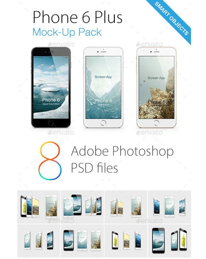 phone 6 mock ups pack