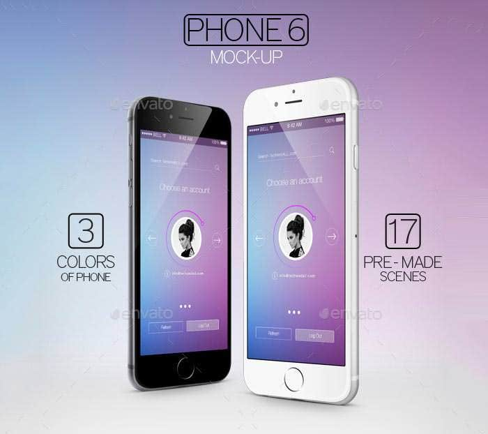 phone 6 mock ups