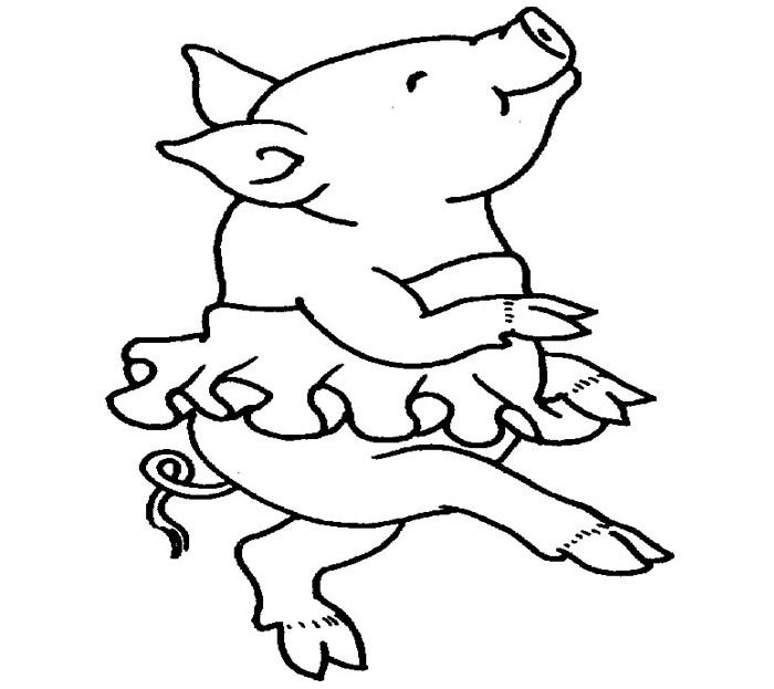 pig coloring page for kids 2