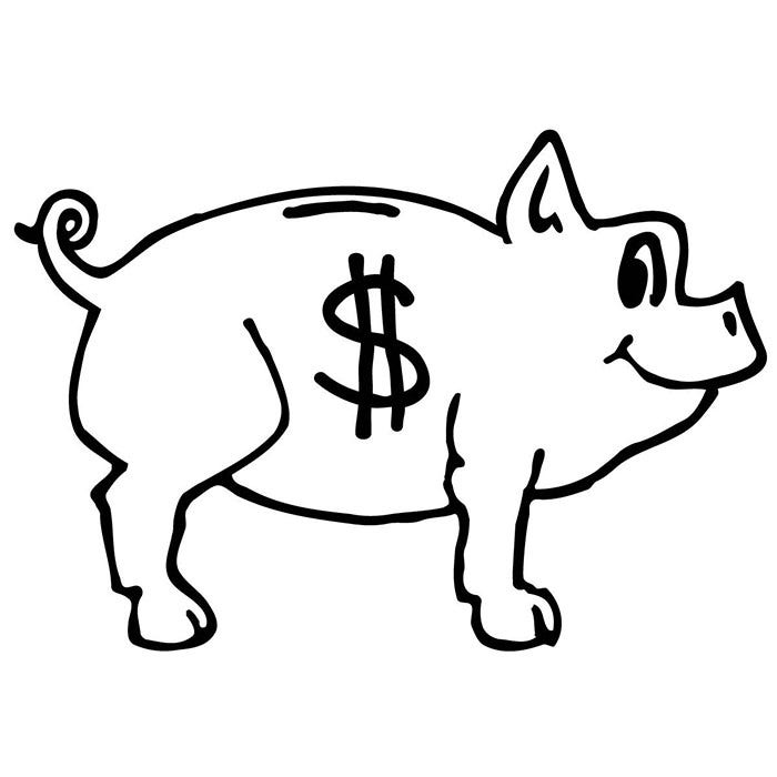 pig coloring page for kids
