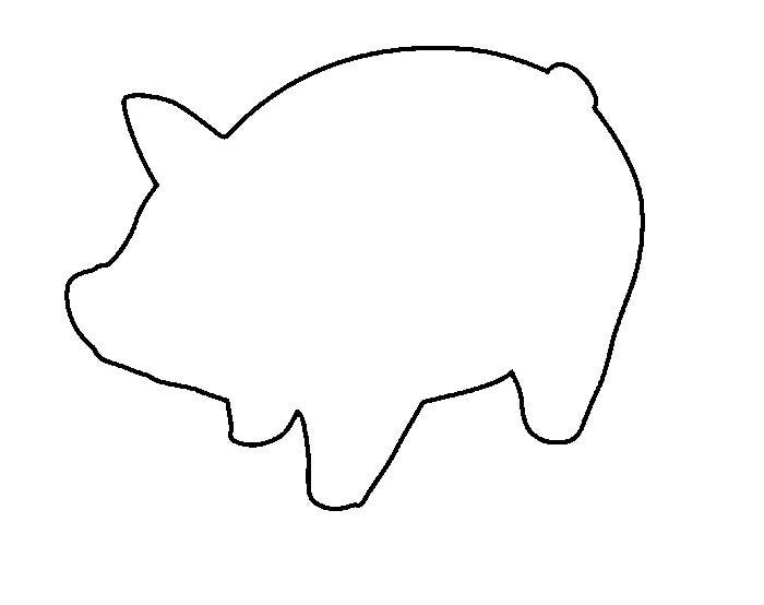 picture relating to Printable Pig titled Pig Template - Animal Templates Free of charge Quality Templates