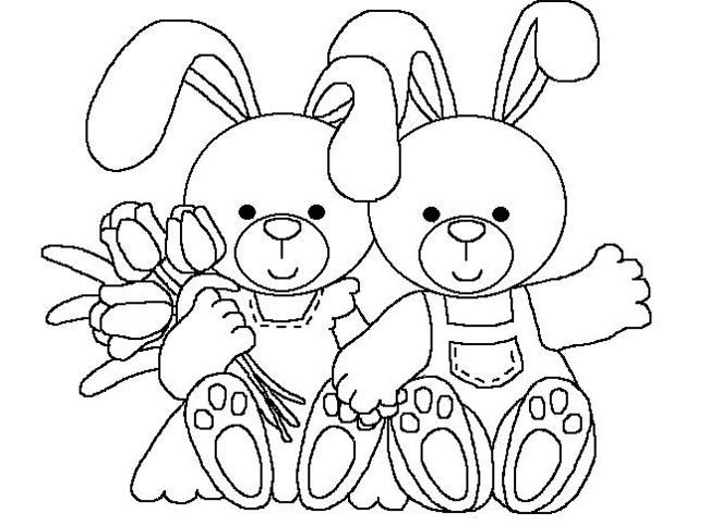pin rabbit coloring page