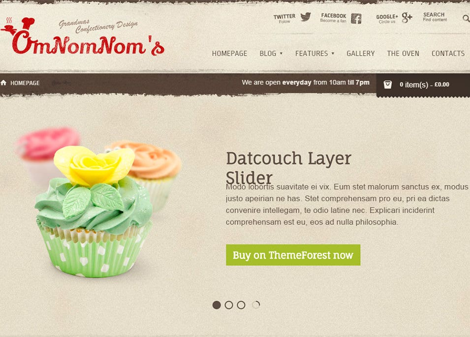 premium theme for bakeries