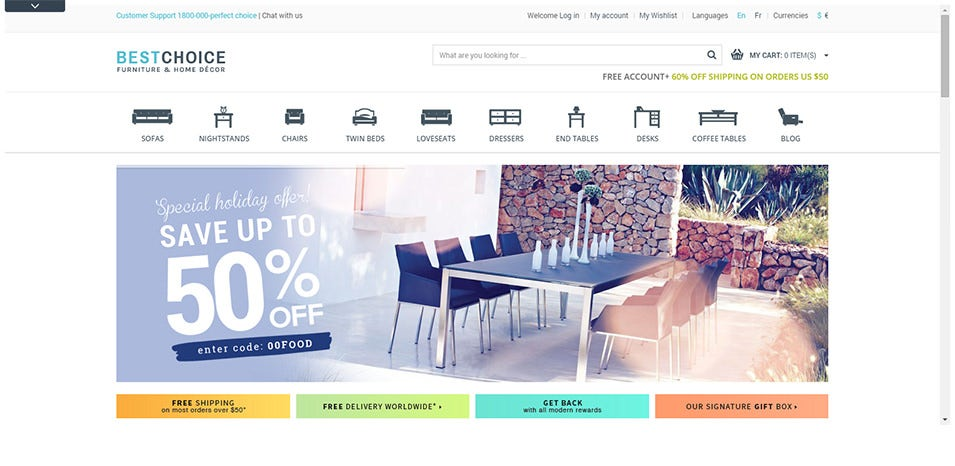 prestashop furniture shop theme