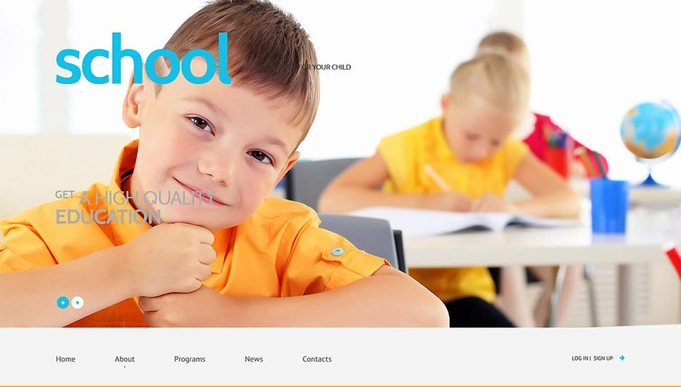 primary school responsive wordpress theme1