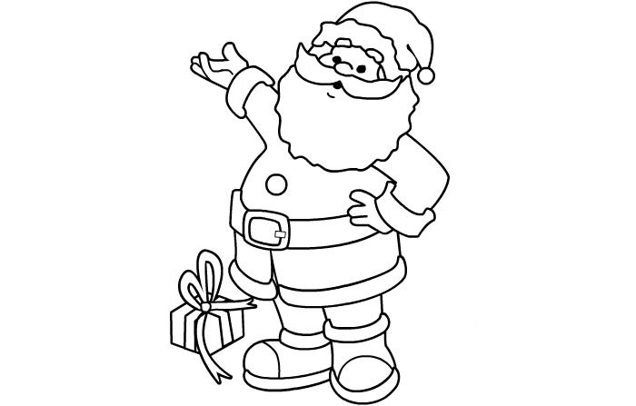 Playful image for santa printable