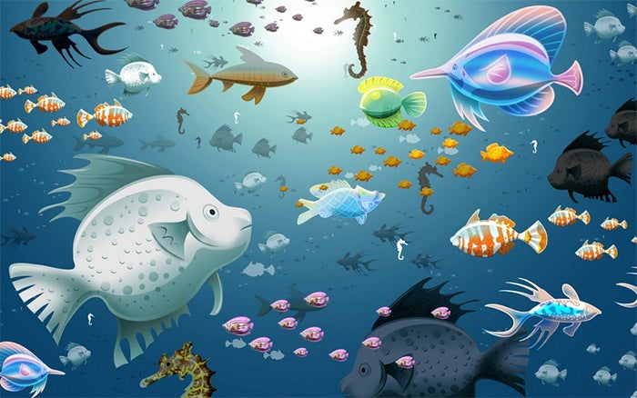 printable fish aquarium background