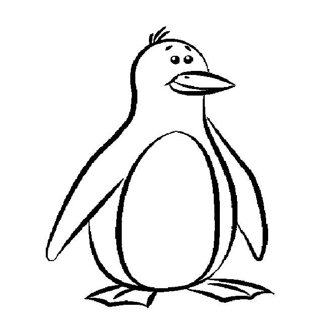 Penguin Drawings For Kids Penguin Templat...
