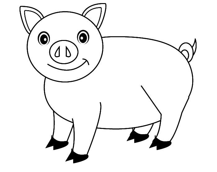 Three Little Pigs Cut Out Coloring Pages