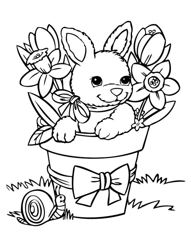 printable rabbit coloring page