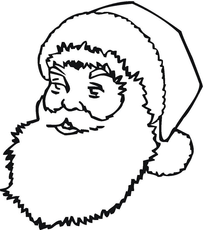 printable santa claus face template