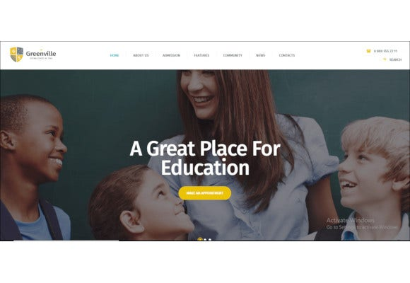 private school wordpress theme