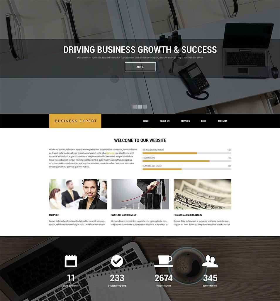 professional business advice drupal template