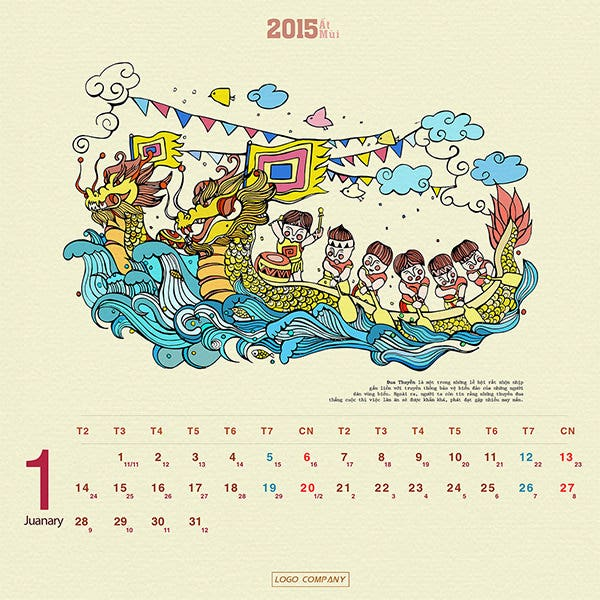 project design calendar 2015
