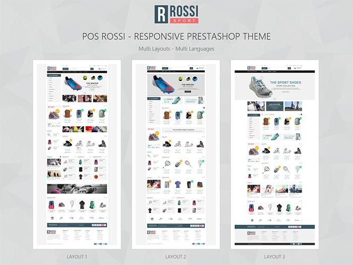 rossi responsive prestashop theme
