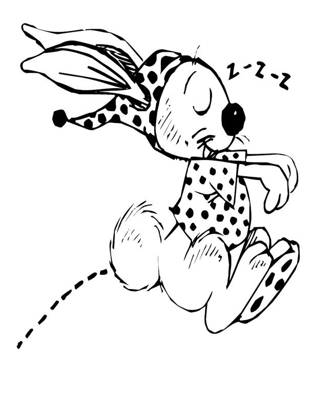 rabbit hopping coloring page