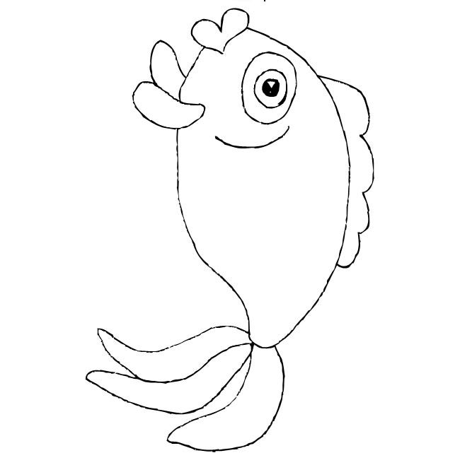 rainbow fish template 3
