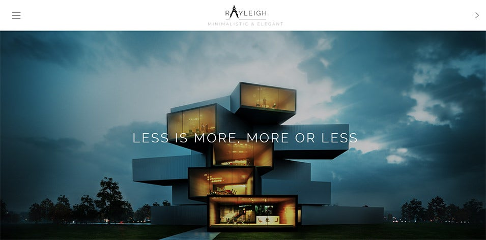A Responsive Minimal Architect Theme