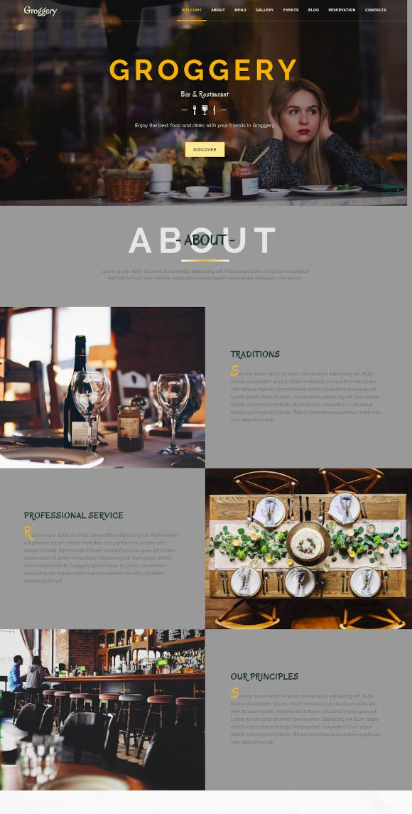 responsive bar wordpress theme