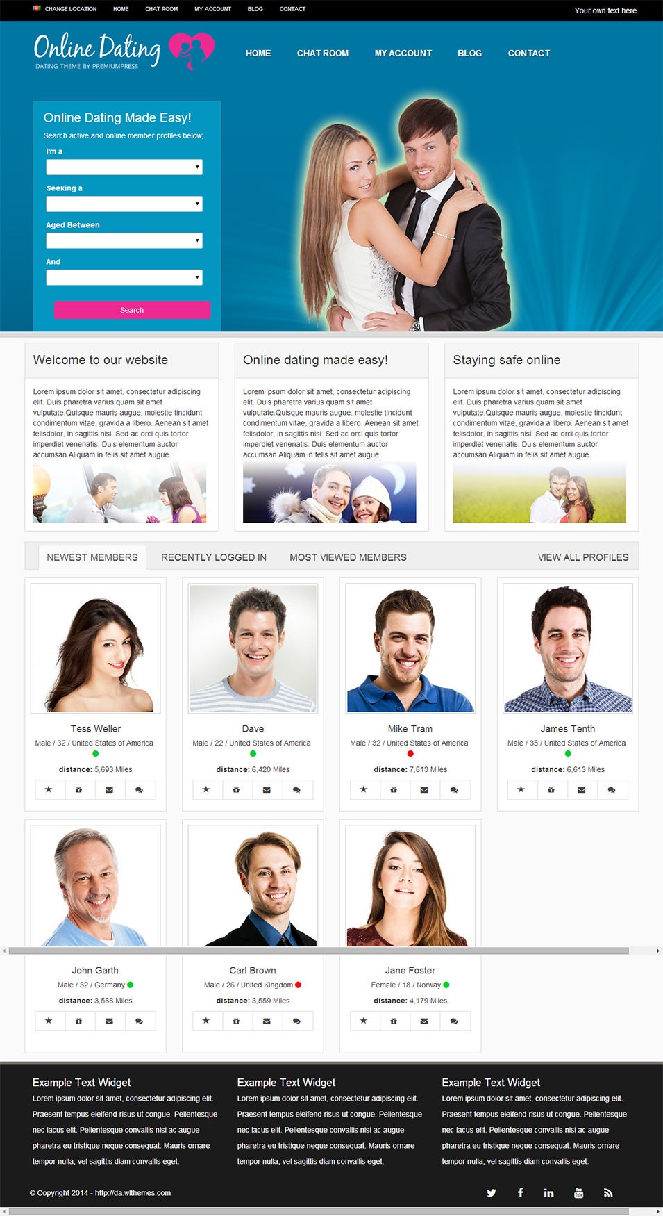 Responsive Dating Theme for WordPress