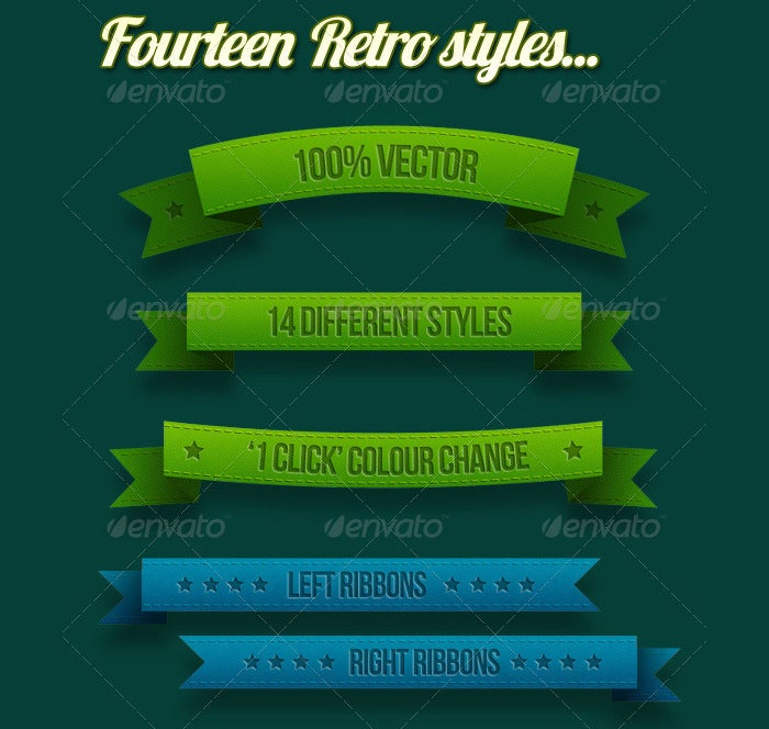 Retro Ribbons & Banners