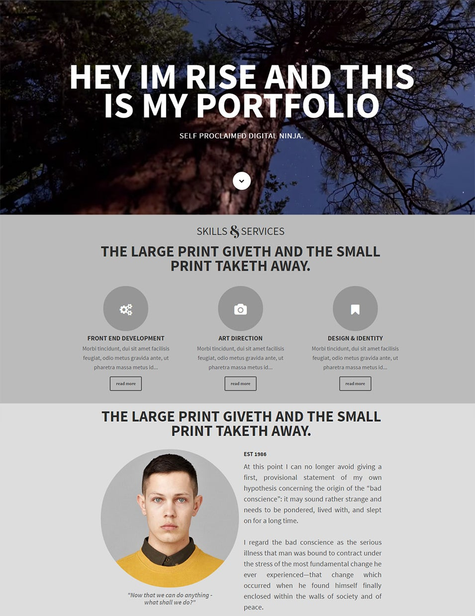 rise responsive one page parallax drupal 7 theme