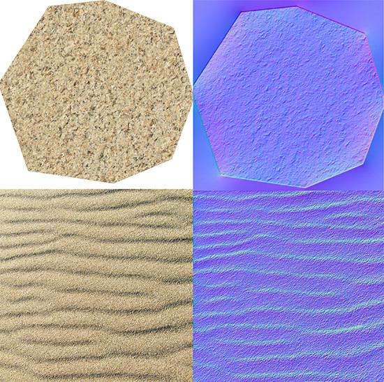 rock sand 3d texture