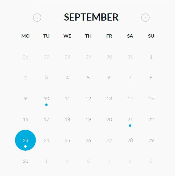 26 Html Calendar Templates Free Html Psd Css Format Download
