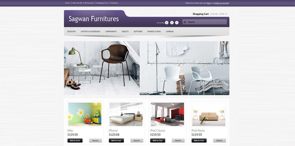 sagwan furnitures opencart theme