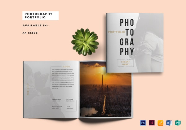 sample photography portfolio catalog template