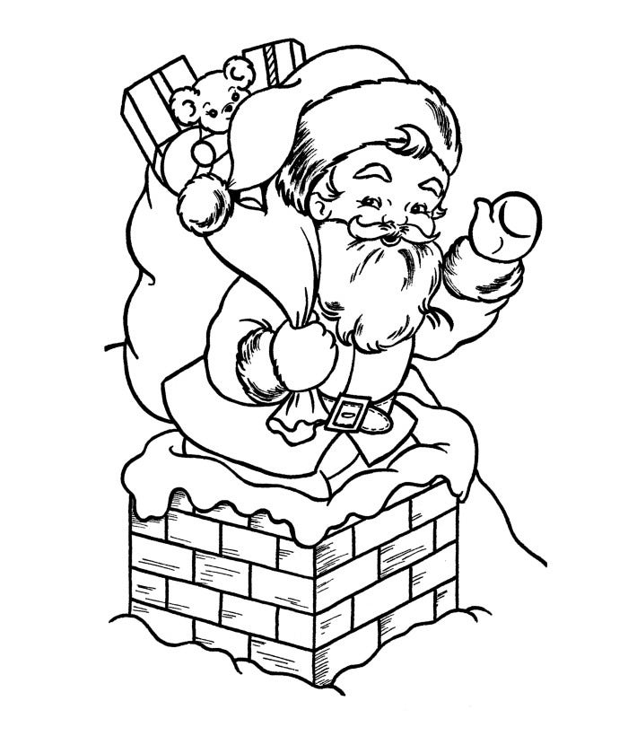 Santa Claus Free Coloring Sheet