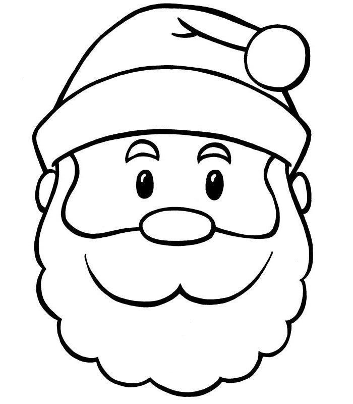 60 Best Santa Templates Shapes Crafts  Colouring Pages  Free