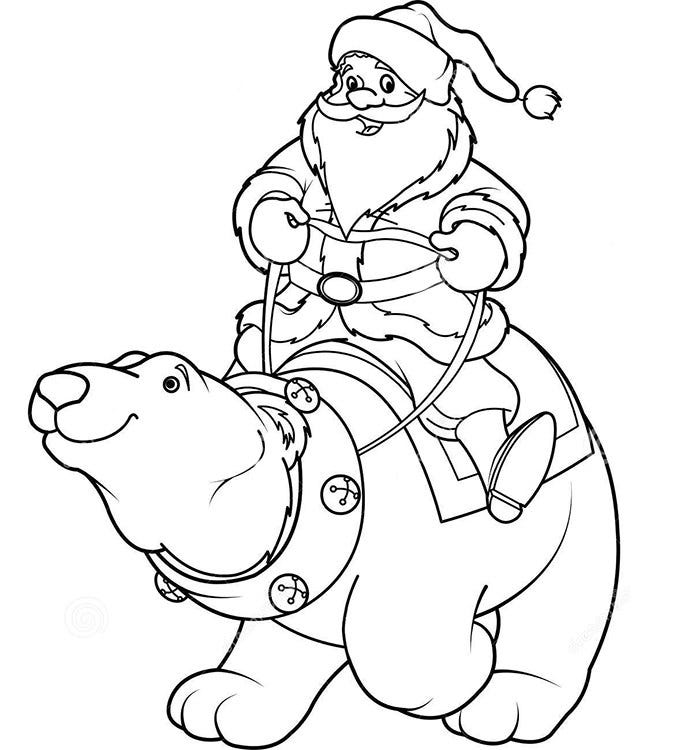 Santa Coloring Page To Download