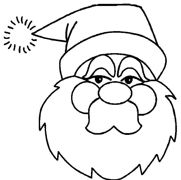 61 Best Santa Templates Shapes Crafts Colouring Pages Free