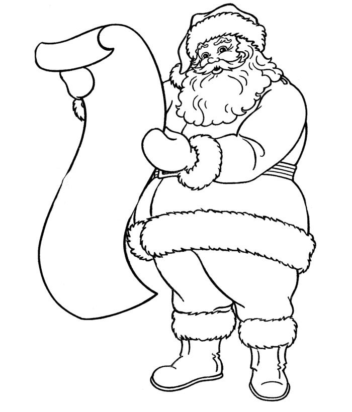 santa coloring printable pages | 61+ Best Santa Templates Shapes, Crafts & Colouring Pages ...