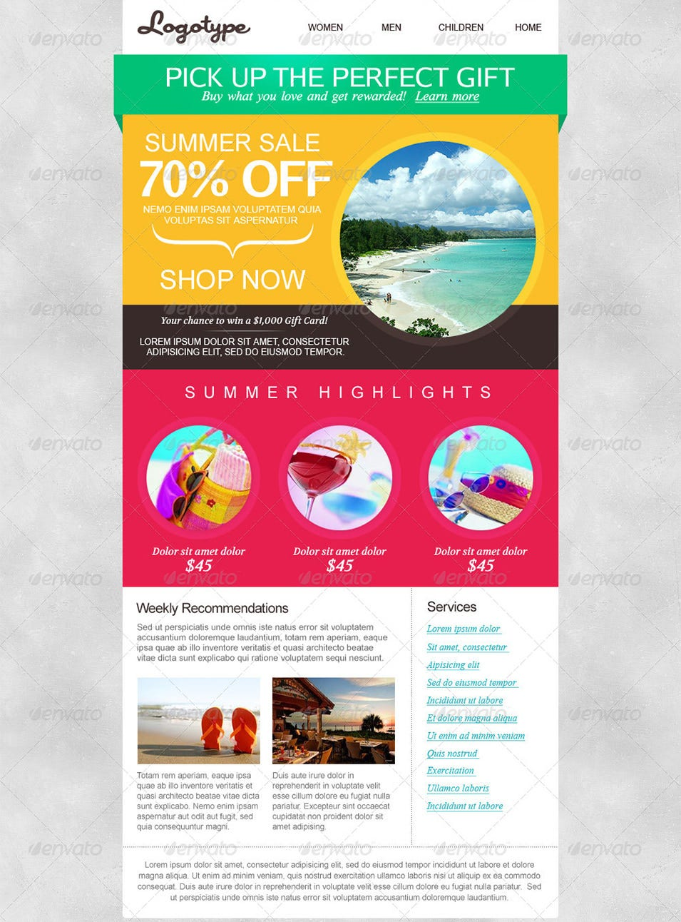 Best Email Template Designs For Download Purchase Free - Email brochure template
