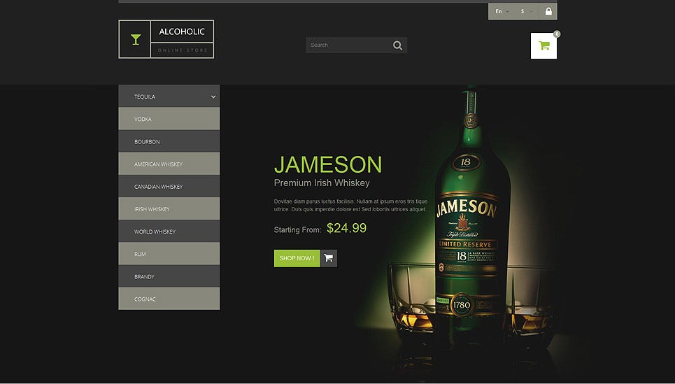Selling Beverages PrestaShop Theme