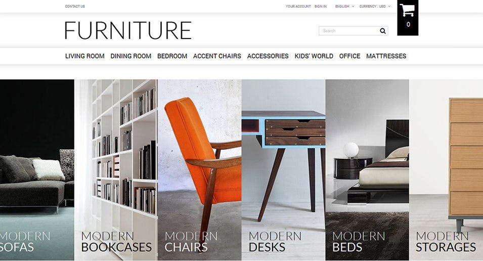 25 best furniture ecommerce templates free premium for Best place to sell furniture online