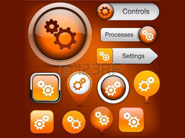Settings orange design