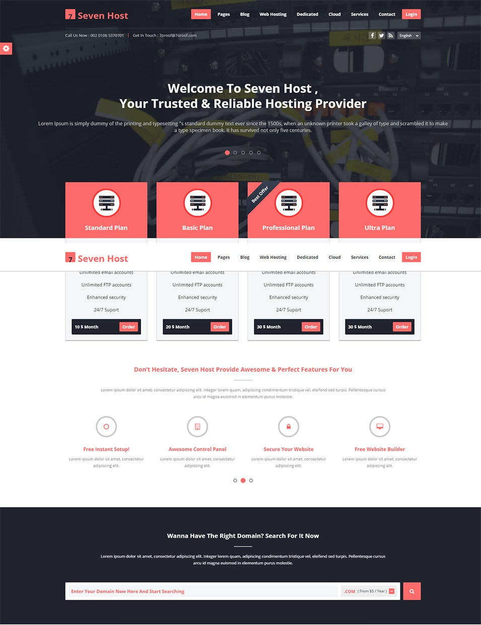 60 best web hosting website templates themes free templates