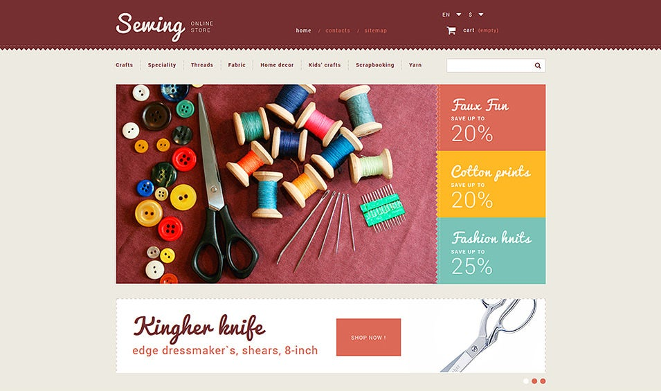 Sewing Store PrestaShop Theme
