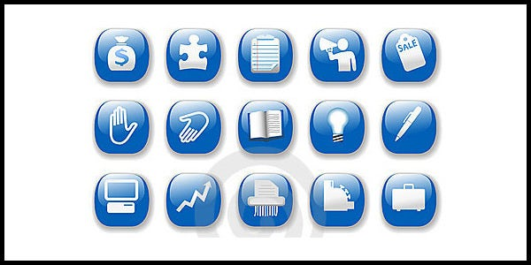 shiny icons business internet website