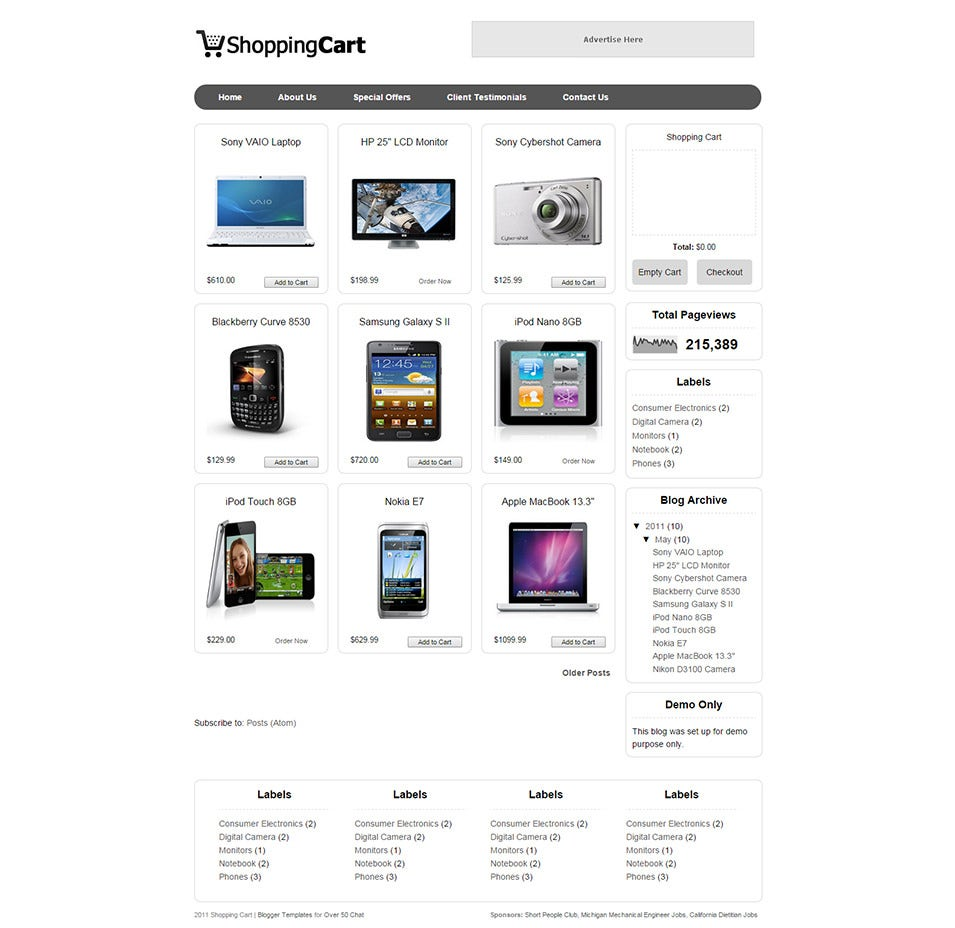 Payment Integration Ecommerce Themes Templates Free - Invoice html template bootstrap free download online layaway stores