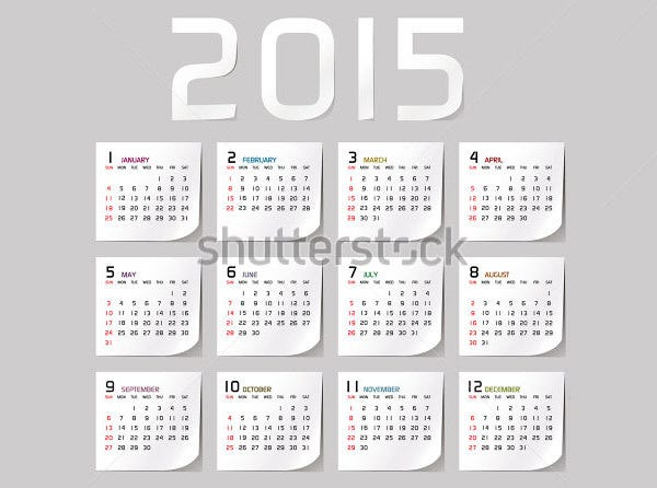 40  free  premium calendar template  u0026 designs 2015