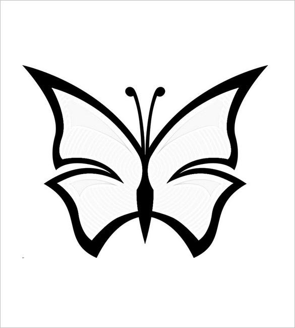 simple dark butterfly template