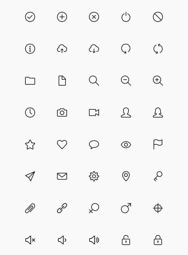 simple line icons1