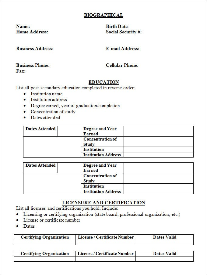 Resume Degree Format