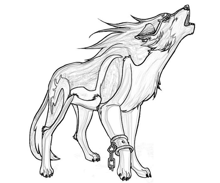 Simple dog coloring page - Wolf Template Animal Templates Free Amp Premium Templates